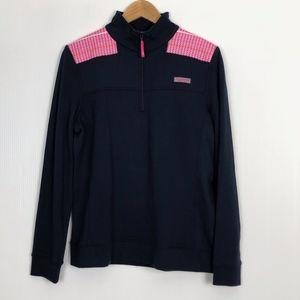 Vineyard Vines Shep Shirt Pullover Navy Pink L